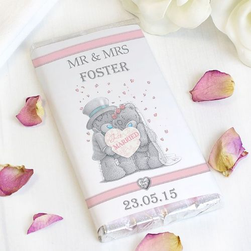 Personalised Me To You Wedding Couple Chocolate Bar